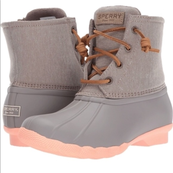 Saltwater Taupecoral Sperry Duck Boot